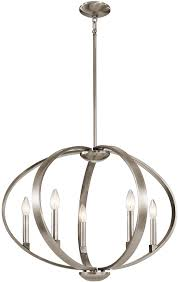 kichler 43871clp elata modern classic pewter hanging chandelier loading zoom
