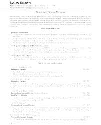 Marketing Manager Resume Template General Sample Restaurant Business ...