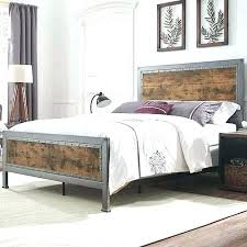 wood and iron bedroom furniture. Wood And Metal Bedroom Sets Furniture Queen Size Industrial Iron