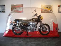 outdoor motorcycle storage bubble photos