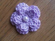 Easy Crochet Flower Patterns Free Cool Busy Bees Craft Place Free Five Petal Crochet Flower Pattern