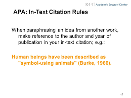 Always include in text citations for  SlideShare