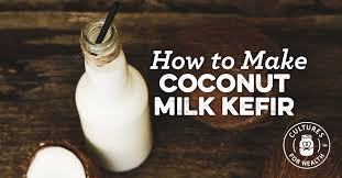 kefir milk. coconut milk kefir - 3 ways! o