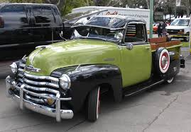 Pea Soup Green & Black Chevrolet Pickup Truck | Chevy trucks ...