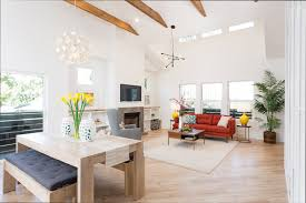 a california bungalow staged to perfection front main mobile chandelier grand west elm classic and modern quebec