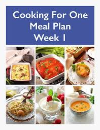Weekly Meal Planning For One Meal Plan For One Weekly Meal Prep Week 1 One Dish Kitchen
