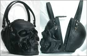 leather skull purse new image of