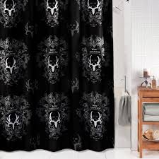 black and gray shower curtain. bone collector\u0026reg; black shower curtain and gray