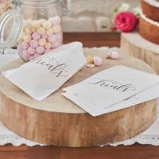Boho White 'Treat' Candy Sweet Bags