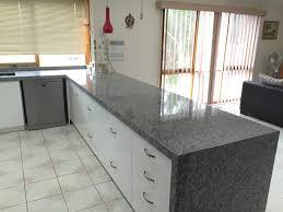 Granite Kitchen Benchtop Oriental White Granite With Waterfall End Waterfall Edge