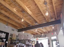 open ceiling lighting. Open Beam Ceilings | Next To Me Two Women Were Each Enjoying A Hot · Basement Ceiling Lighting P