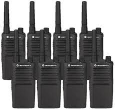 motorola handheld radio. motorola rmm2050 8 pack two way radio bundle handheld t