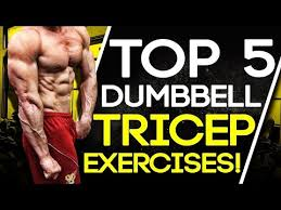 top 5 dumbbell tricep exercises build