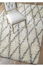 black and white diamond rug. rugs usa trinket diamond trellis shag natural rug. pre black friday sale 75 black and white rug g