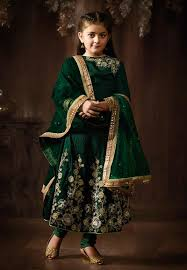 Pakistani Kids Salwar Kameez Designs Beige Net Designer Salwar Suit For Small Girl Pakistani