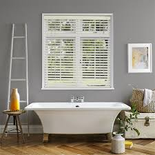 bathroom blinds. ecostyle 50mm faux ivory bathroom blinds