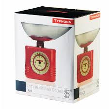 Small Picture Morrisons Typhoon Vintage Kitchen Scales Red Product Information