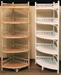 Wicker Corner Shelves Wicker Storage Shelves Wicker Corner Cabinet Tall Shelf 8