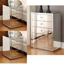 Mirror Furniture Vegas Smoke Mirror Mirrored 5 Drawer Lingerie Chest