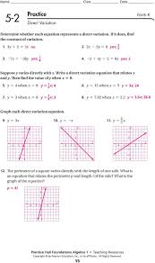 9 the perimeter of a square varies directl with the length of 16 practice continued form k