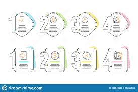 Bitcoin User Info And Login Icons Set Seo Statistics Sign