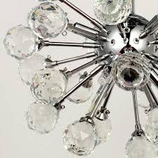 lightess crystal chandelier flush mount ceiling light modern mini ball globe shape lighting fixtures with 6