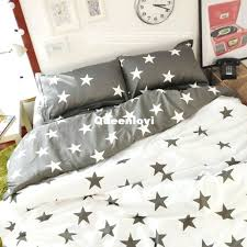 stars duvet cover style bedding sets gray star pattern cute five print set lovely queen black stars duvet cover grey