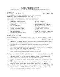 4th Grade Teacher Resume Resumes Samples For Teachers Special Education Resume Samples