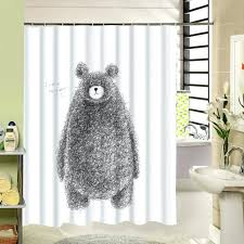 bathroom shower curtain bear pattern bear paw shower curtain hooks bathroom furniture bear shower curtain