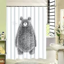 bathroom shower curtain bear pattern bear paw shower curtain hooks bathroom furniture bear shower curtain