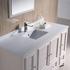 54 Bathroom Vanity Cabinet Fresca 54 Antique White Traditional Bathroom Vanity Mirror