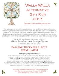 join us on december 2 for the 2017 alternative gift fair the event will be from 12 to 4pm in the young ballroom at whitman college s reid cus center