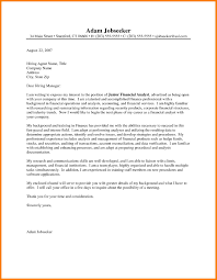 7 Financial Analyst Cover Letter Precis Format