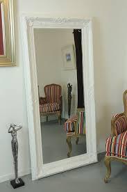 antique full length wall mirror frameless