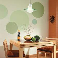 simple painted circle technique room