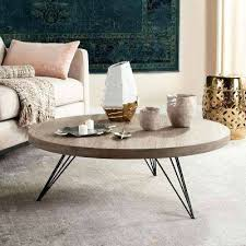 light oak black retro mid century round coffee table ideas small spaces