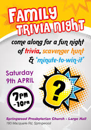 trivia night flyer templates trivia night poster template kays makehauk co