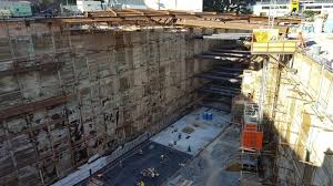 100ft solr pile wall at 2nd hope station los angeles designed with our deepex