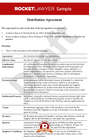 Sales Agent Contracts Gorgeous Distribution Agreement Template Distributor Contract Sample
