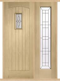 cottage oak external side panel door set