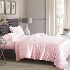 light pink silk duvet cover