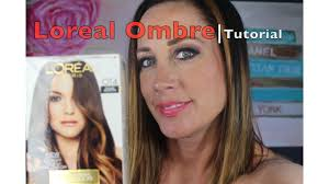 loreal how to ombre hair coloring tutorial diy root touch up