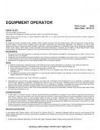 Resume Cover Letter Heavy Equipment Operator Example 3 Machine