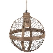 sphere en wire pendant lamp