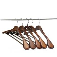 best extra wide shoulder suit hangers wood clothing hangers for closet collection retro finish under 54 14 dhgate com
