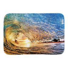 Home Decorative Doormats Blue Sea Sacenery Soft Lightness Indoor ...