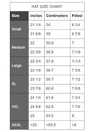 Hat Size Conversion Chart Sizing Chart Pants Shorts Jackets Hats Shirts Us
