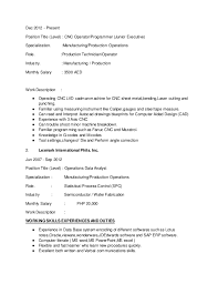 Cnc Operator Resume - April.onthemarch.co