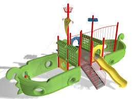 outdoor playground pirate ship slide 3d model design this model is applicable to playground park backyard and other outdoor space