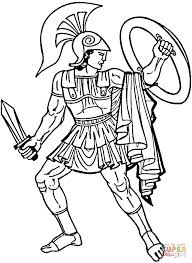 Small Picture Greek Warrior coloring page Free Printable Coloring Pages